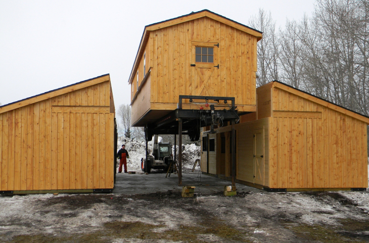 Barn home assembly