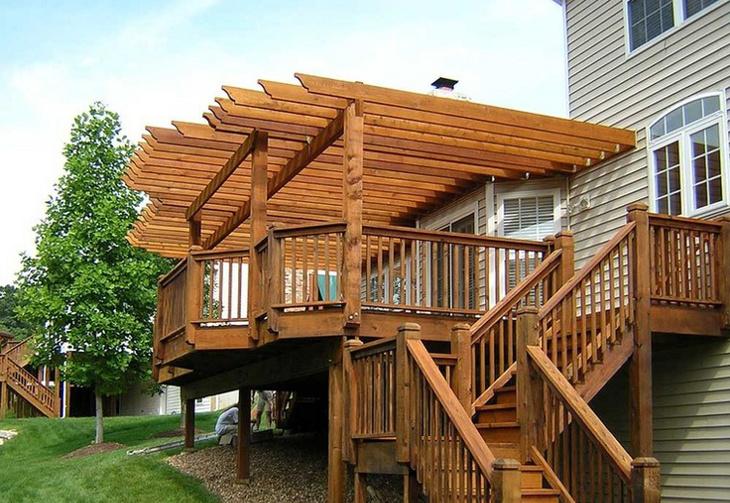 Deck pergola design