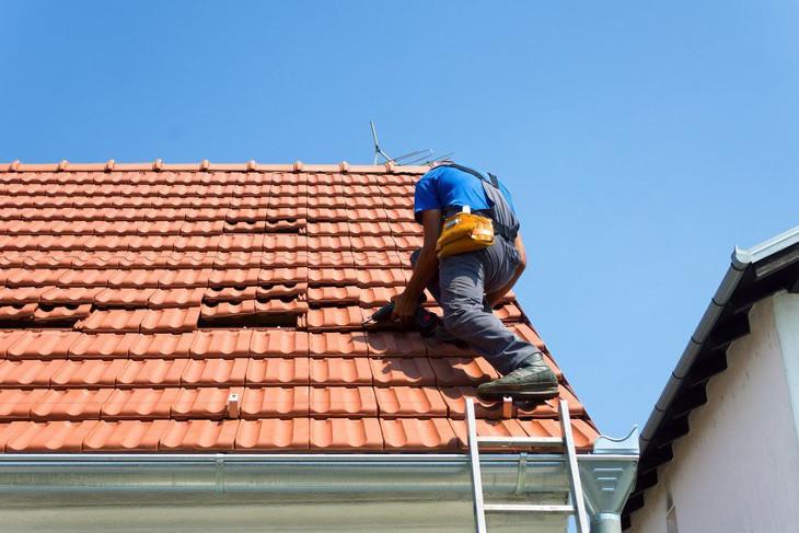 Doing roof repairs