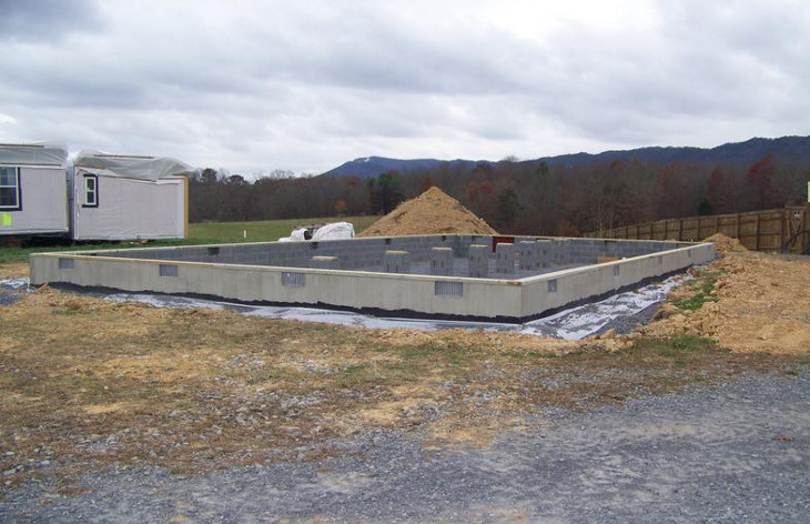 Foundation for manufactured home