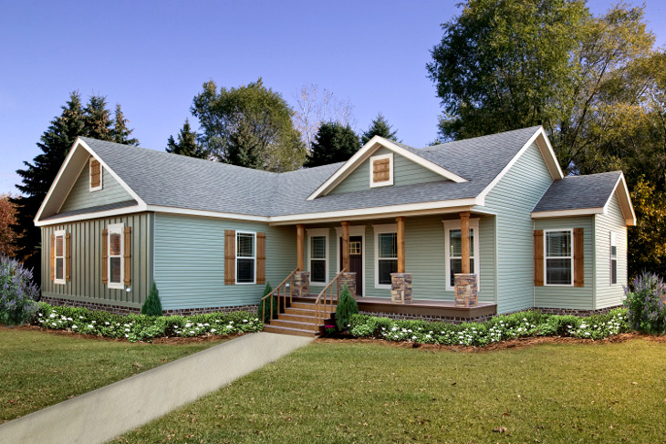 L-shaped modular home