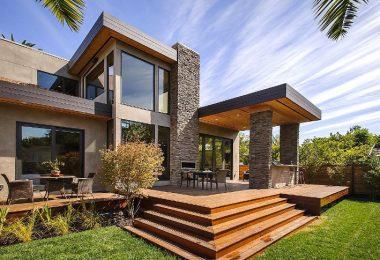 Luxury modular house with garden