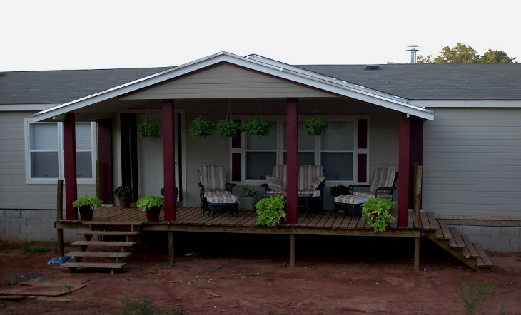 ' Manufactured homes porch