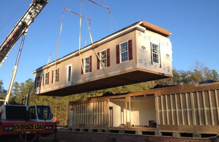 Modular home on site