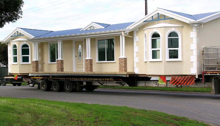 Multipoint foundation modular house