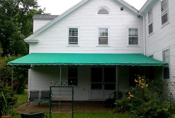 Patio stationary awning
