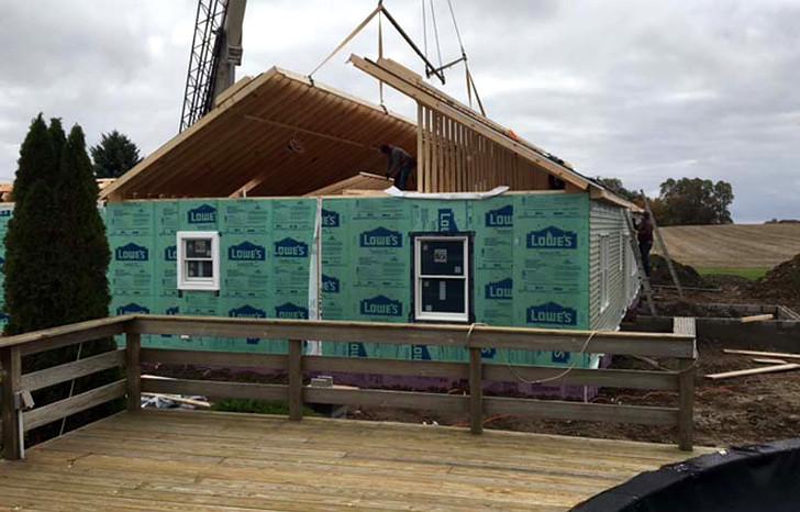 Prefab home location excavation