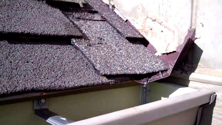 Roof flashing repairs
