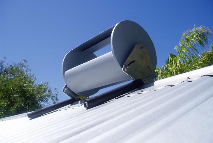 Wind turbine on roof