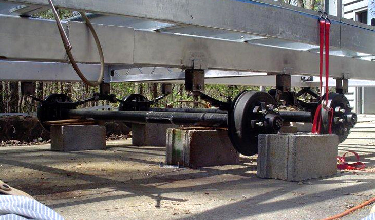 Axles for mobile homes