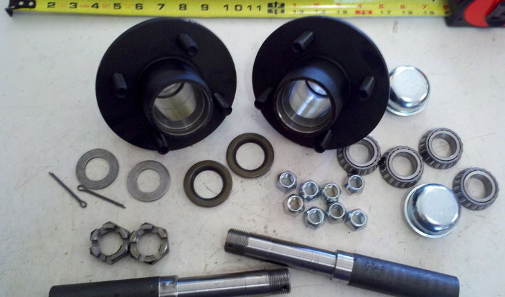Bearings for axles