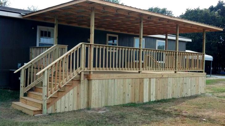 Building mobile home steps