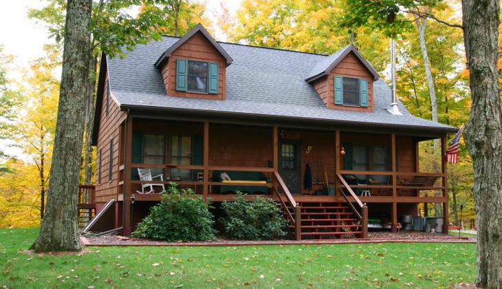 Cabin style modular house
