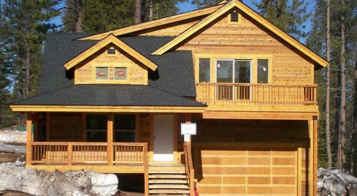 Cedar siding clad house
