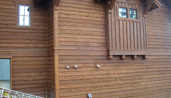 Cedar siding used