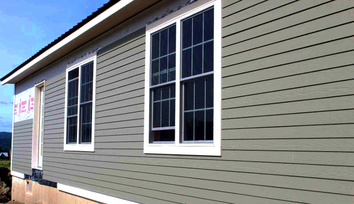 Mobile home siding aesthetic protection for house exterior for Fire resistant house siding material hardboard