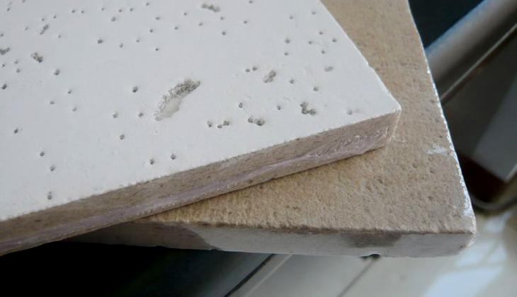 Fiberboard ceiling panels