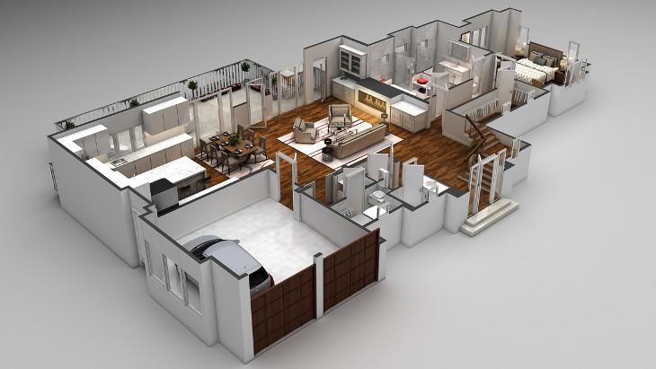 Home 3D floor plan
