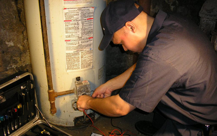 Hot water system repair