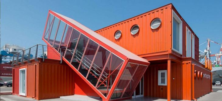 Unique design of container home