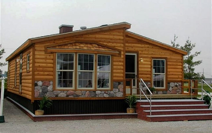 Installed modular cabin home