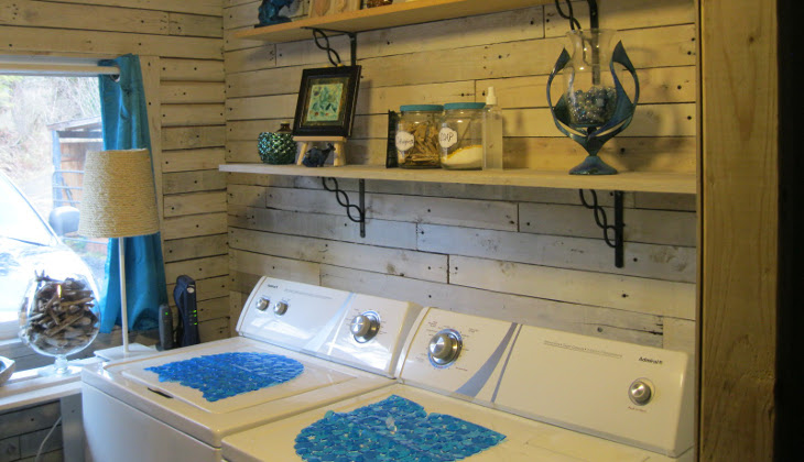 Laundry room in modular home