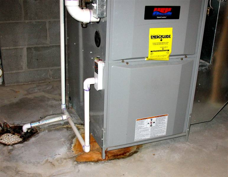 Leaky mobile home furnace
