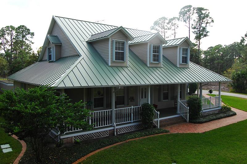 Metal roof on modular home