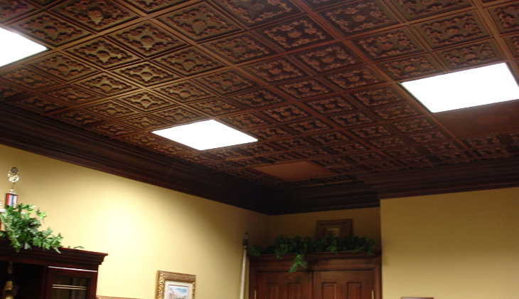 Mobile home ceiling panels