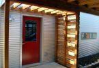 Mobile home door installed