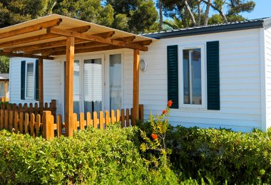 Mobile home front porch