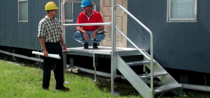 Mobile home metal steps