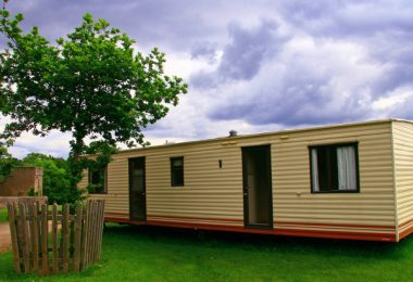 Mobile home securely anchored