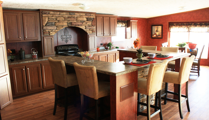 Modular home kitchen design