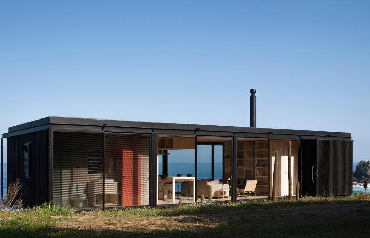 Modular home overlooking the sea
