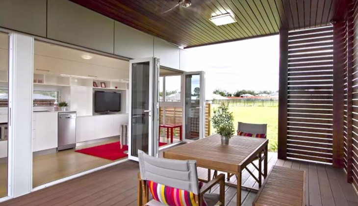 Modular shipping container home interior