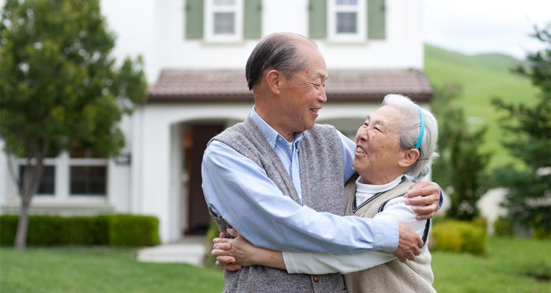 Old couple buys new home