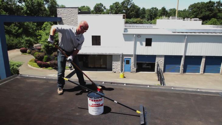 Preparing to coat roof