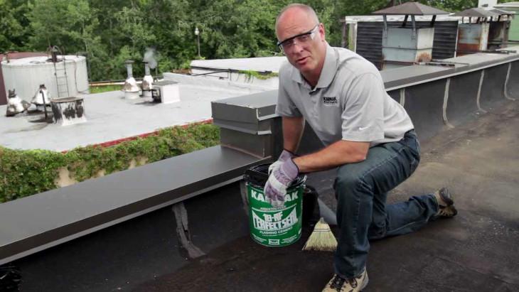 Repairing roof damages