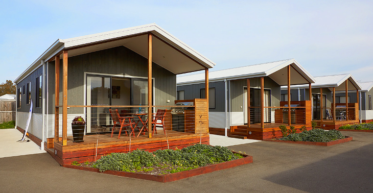 Row of modular homes