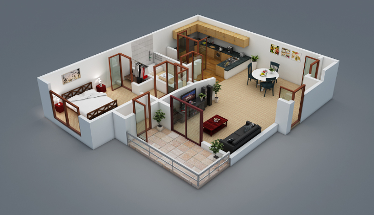 Sample 3D floor plan