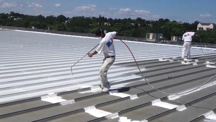 Spraying acrylic coating