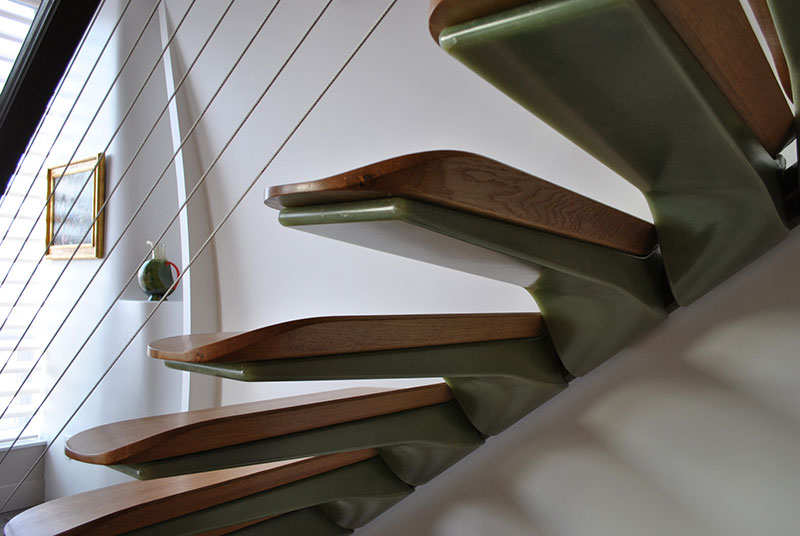 Stairs made of fiberglass