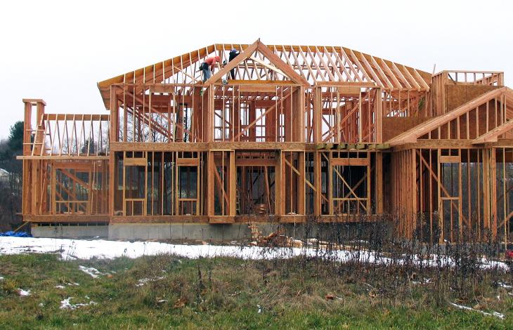 Stick built house