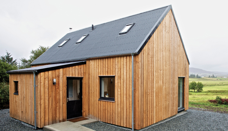 Tiny home with wooden sidings