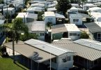 Top view of mobile homes