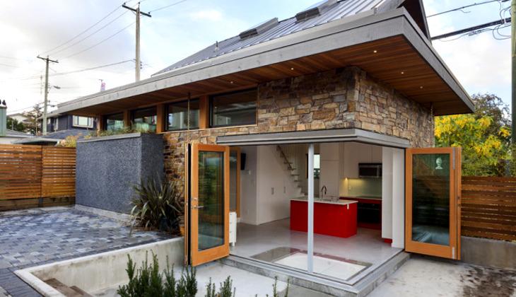 Wide doors of tiny home