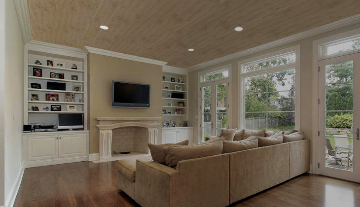Wooden texture ceiling panels