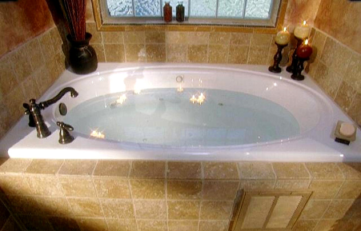Bath prepared on garden tub