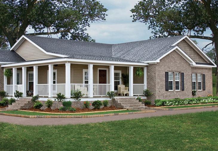 Brick wall triple wide home